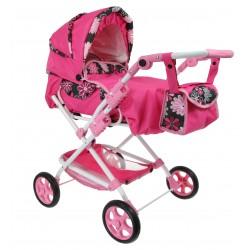 POLSKI Wózek dla lalek Głęboki + Spacerówka 3w1