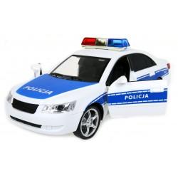 Auto Policja RADIOWÓZ 24cm Światła Dźwięki Napęd