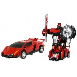 Auto METAL Robot Transformowalny METALOWY ! 2w1 CZ