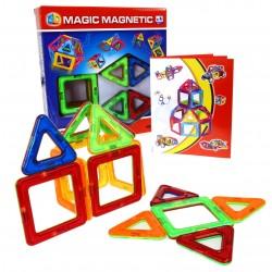 Klocki Magnetyczne 3D Zestaw 14el Kwadrat Trójkąt