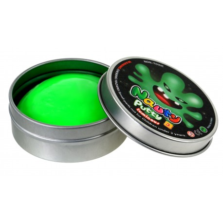 SPRYTNA PLASTELINA ŚWIECĄCA W CIEMNOŚCI Metal opak zielona