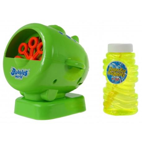 Aparat Maszyna do robienia baniek mydlanych +PŁYN SAMOLOT zielony