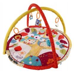 Baby Mix Mata edukacyjna SOWA + PAŁĄK z zabawkami