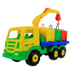 WADER Auto Ciężarówka Dźwig Śmieciarka + Klocki