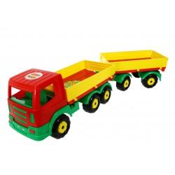 WADER 44150 Auto Ciężarówka z przyczepą skrętną