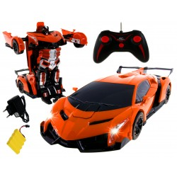 ROBOT ZDALNIE STEROWANY RADIOWO + AUTO 2w1 + AKUM. pom.