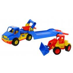 WADER 8879 Auto Ciężarówka LAWETA KOPARKA 2w1