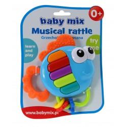 Baby Mix Interaktywna GRZECHOTKA RYBKA Pianinko