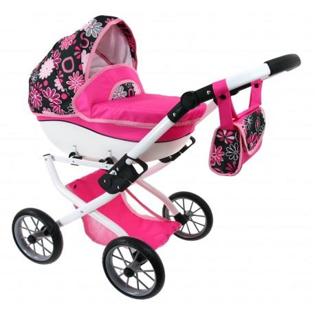 DUŻY POLSKI Wózek dla lalek lalkowy MEGA SOLIDNY ! róż