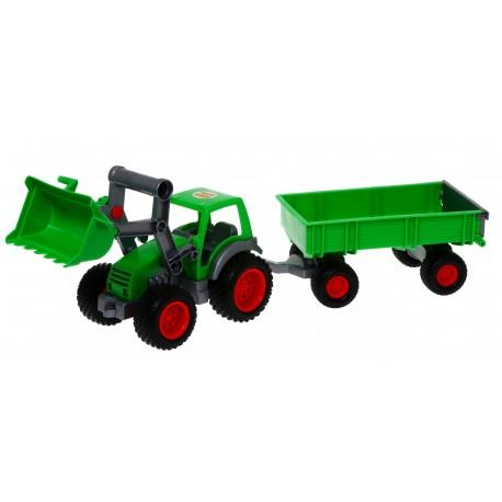 WADER 8817 Traktor Farmer Technik z przyczepą 63cm