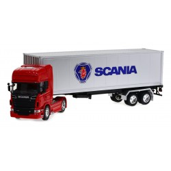 Welly Model 1:32 Scania V8 R730 z naczepą 48cm TIR