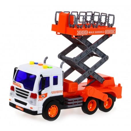 SŁUŻBY MIEJSKIE Ciężarówka z podnośnikiem koszowym