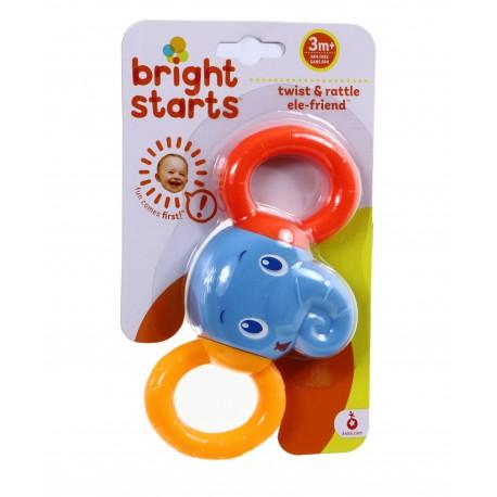 Bright Starts Podwójna grzechotka SŁONIK BS 10226
