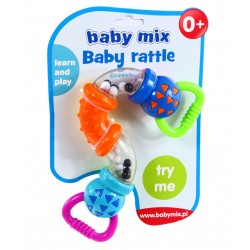 BABY MIX Edukacyjna Grzechotka ZGINALNA do rączki