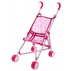 METALOWY Składany Wózek dla lalek Spacerówka