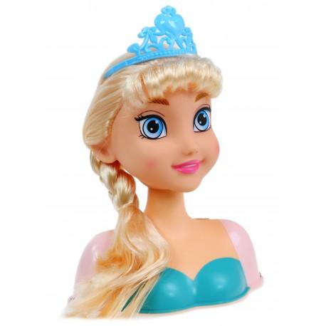 Głowa lalki do czesania stylizacji, AKCESORIA Anna