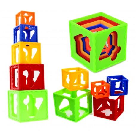 KOSTKA 3D Stack Cube Układanka Sorter Klocki Wieża