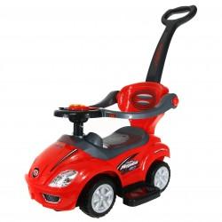 Baby Mix Jeździk  Mega Car 3w1 Kierownica z dźwięk
