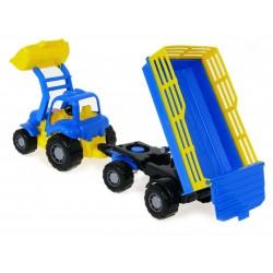 Polesie 44808 Traktor OSIŁEK z przyczepą Ładowacz