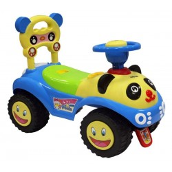 Baby Mix Jeździk Auto PANDA dźwięk duże koła NIEB.