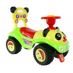 Baby Mix Jeździk Auto PANDA dźwięk duże koła ZIEL.