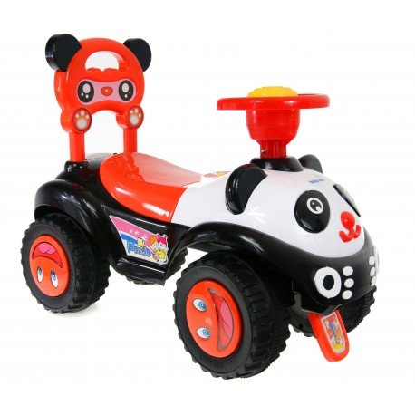 Baby Mix Jeździk Auto PANDA dźwięk duże koła CZAR.