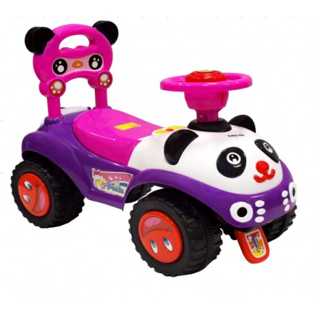 Baby Mix Jeździk Auto PANDA dźwięk duże koła FIOL.