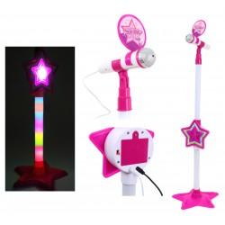 MIKROFON KARAOKE + Efekty świetlne, MP3  75-105cm