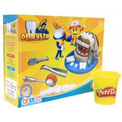 Mały DENTYSTA + WIERTEŁKO + CIASTOLINA Play-Doh !