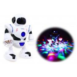 Tańczący ROBOT MULTIMEDIALNY HT-01 Świeci Gra 22cm