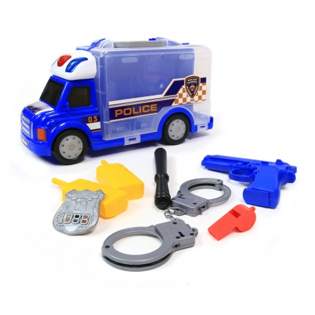 POLICJA Radiowóz Ciężarówka Interaktywna AKCESORIA