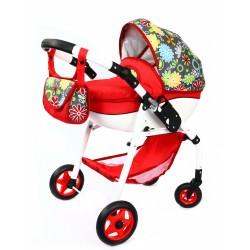 Duży POLSKI Wózek dla lalek lalkowy Skrętne koła