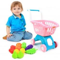 POLESIE Wózek marketowy sklepowy na zakupy +12elem