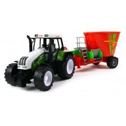 MEGA Traktor z paszowozem PASZOWÓZ JAKOŚĆ 56cm