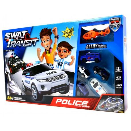 Policyjny TOR WYŚCIGOWY SWAT 370 cm + Samochodziki