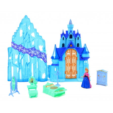 Zimowy zamek pałac LODOWA KRAINA + mebelki Dźwięk!