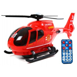 Interaktywny HELIKOPTER + PILOT Straż Pożarna