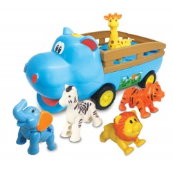 DUMEL HIPCIOWÓZ Interaktywny pojazd + Zwierzątka