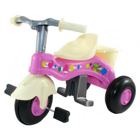 POLSKI Rowerek trójkołowy 3-kołowy +koszyk RĄCZKA