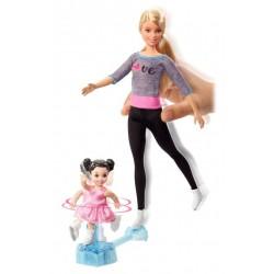 Lalka Barbie ŁYŻWIARKI łyżwy + akcesoria MATTEL