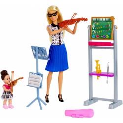 Lalka Barbie SKRZYPACZKA muzyka +akcesoria MATTEL