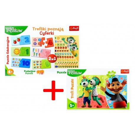 Puzzle 2w1 Edu Cyferki + GRATIS Puzzle 100 Trefl