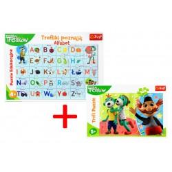 Puzzle Poznajemy Alfabet + GRATIS Puzzle 100 Trefl