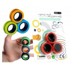 PIERŚCIENIE Krążki MAGNETYCZNE Fidget Spinner 3szt